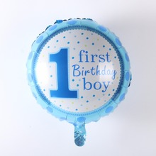18inch 1 First Birthday Girl&Boy Balloon Aluminum Foil Balloons Party Decoration Balloons Celebration Supplies