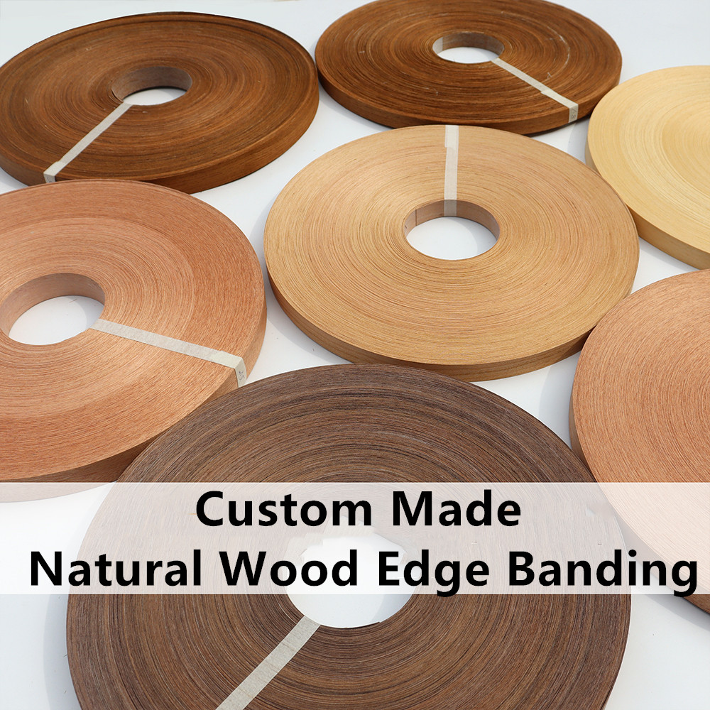 Custom Made Natural Wood Edging Melamine Edge Banding Trimmer Furniture Edgeband Edge Strip 2cm X 200 Meters