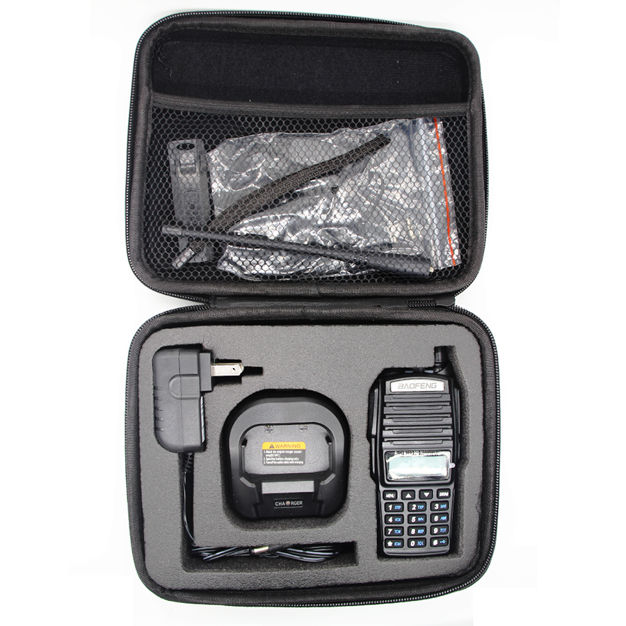 Smart Cover Nylon Carry Case Holder Walkie Talkie Two Way Radio Bag For Yaesu Kenwood WOUXUN TYT Baofeng UV-82 UV-9R Storage Bag