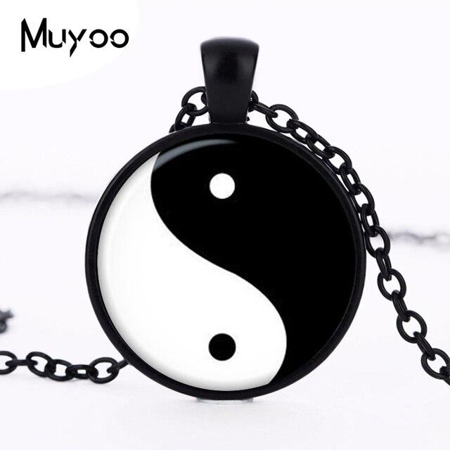 Инь-Янь кулон Инь-Янь Цепочки и ожерелья Инь-Янь знак ювелирные магический знак Zen hz1
