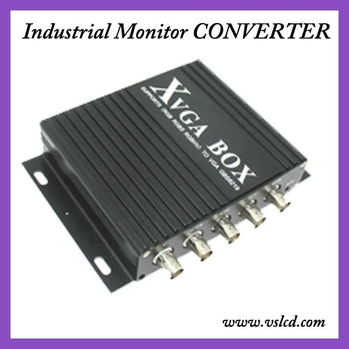 RGB MDA CGA EGA to VGA Converter for Industrial  LCD Monitor GBS8219 new xvga box rgb rgbs rgbhv mda cga ega to vga industrial monitor video converter with us plug power adapter