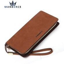 Marke MANBERCE Männer Große Kapazität Handtasche männer Geldbörsen Und Handtaschen Vintage Herren Leder Echte Brieftasche Freies Verschiffen