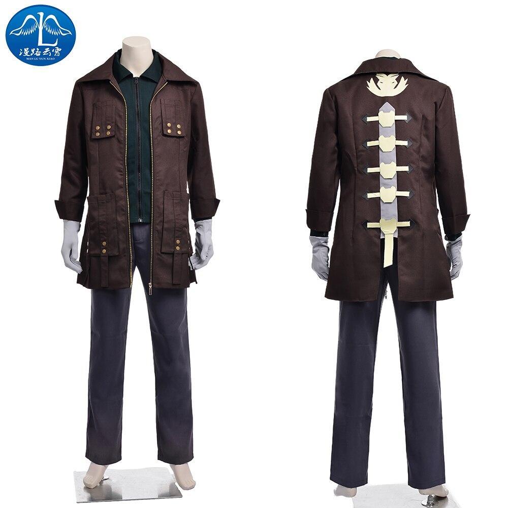 ManLuYunXiao 2017 Cosplay Costume Amemiya Rindo Cosplay God Eater Cosplay Men's Jacket Custom Made Free Shipping
