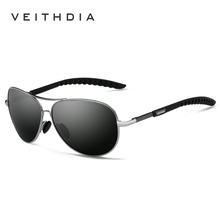 VEITHDIA New Polarized Mens Sunglasses Brand Designer Sunglass Eyewear