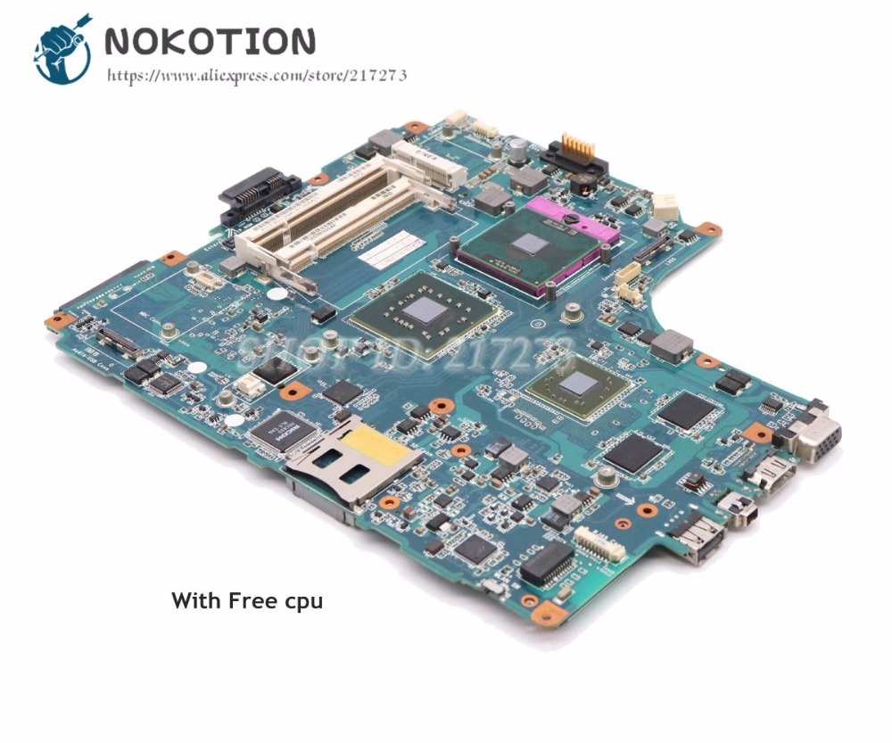 все цены на NOKOTION For Sony VAIO VGN-NW PCG-7171M Laptop Motherboard PM45 DDR2 HD4500 MBX-217 MBX-204 A1747079A A1730139A онлайн