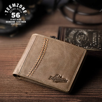 2017 High Quality Brand Casual Men Wallets Cowhide Handmade Purse Genuine Leather Card Holder Short Design