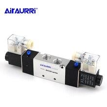 4V320-08 / 4V320-102 5 way DC 12V 24V 110V 220V 3/8 BSPT pneumatic solenoid valve