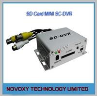 Frete Grátis Plug & Play 1 Canais Cartão SD Mini Carro Ônibus Veículo Móvel DVR CCTV Gravador de Vídeo Digital AV gravador de Fluxo Dual
