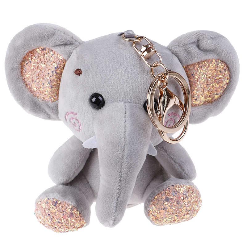 10cm סופר חמוד דמבו ממולא בעלי חיים בפלאש צעצוע קטן תליון יפה מיני קריקטורה פיל בובת מציג לילדים מפתח שרשרת