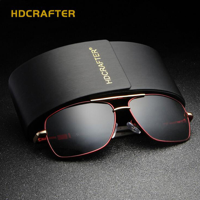 31662aa17f9 HDCRAFTER Fashion Luxury Designer Vintage men s Sunglasses Polarized Mirror  Driving Sunglasses Male Oculos masculino E012