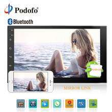 "Podofo 2 Din 7"" Android New Car Radio Double din Stereo GPS Navigation Bluetooth In Dash WIFI Dual USB Audio Player Mirror Link"