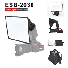 лучшая цена 300*200mm ESB2030 Portable Foldable Flash Diffuser Softbox for Canon Nikon Sony DSLR flash Speedlite Photo Studio Accessories