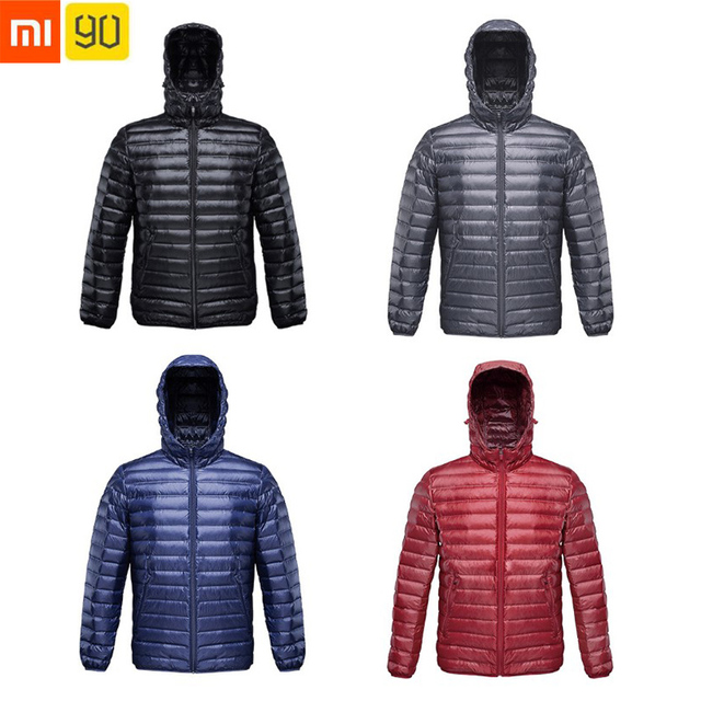 colección completa mejor online € 51.18 |Aliexpress.com: Comprar Xiaomi 90 chaqueta Ultra ligera 90% ganso  chaqueta caliente Anti perforación 650FP viento IPX4 impermeable hombre ...