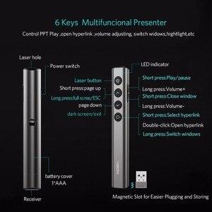 Image 3 - عرض الفرس مقدم لاسلكي مؤشر N35 RF 2.4GHz باور بوينت الشريحة المتقدم USB التحكم عن بعد الوجه القلم باور بوينت