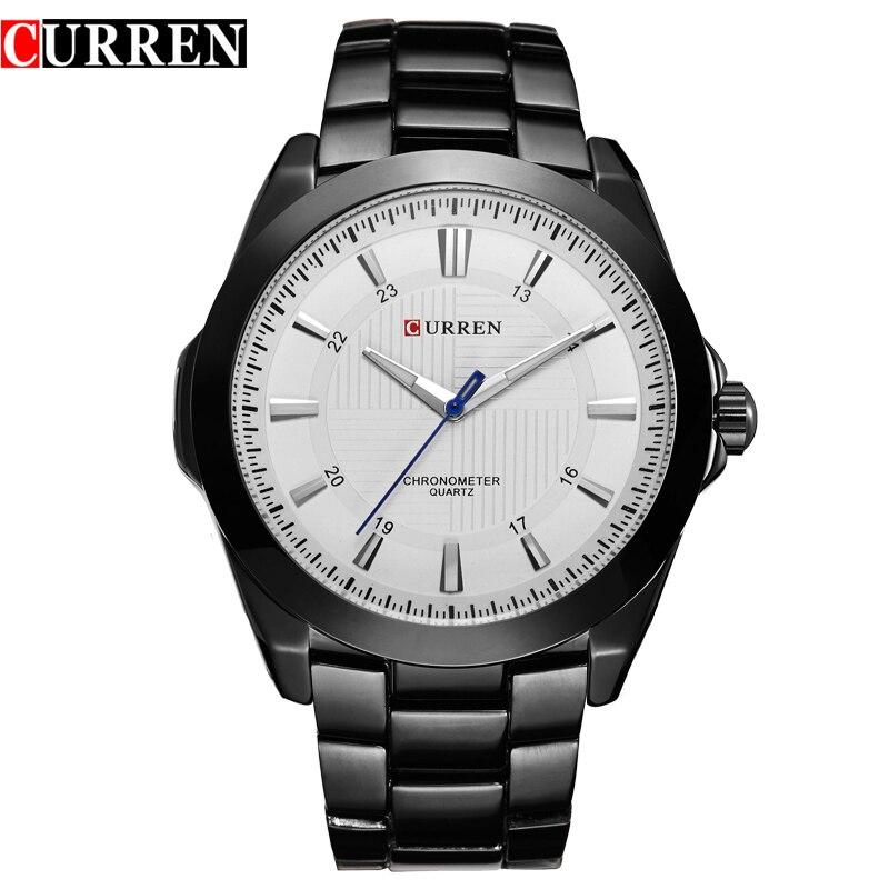 CURREN Sport Clock Male Hardlex Mirror Fashion Blue Hands Black Bracelet Army Watch Mens Quartz Watches Japan Movement