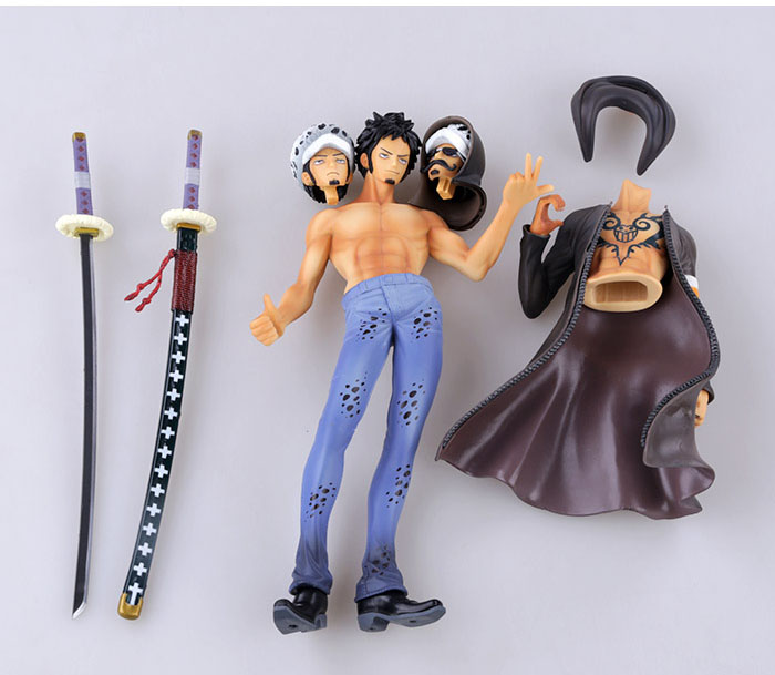 27cm Japanese anime figure ONE PIECE Death Surgeon Tattoo Trafalgar Law Action Figure Replaceable Model Toy Gift Collectible anime one piece luffy vs trafalgar law 5th anniversary pvc action figure collectible model toy 16cm opfg511