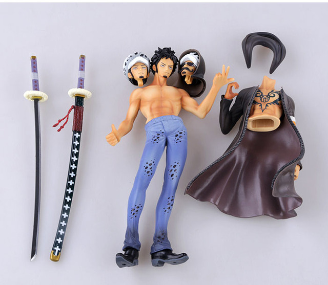 27cm japanese anime figure one piece death surgeon tattoo for Trafalgar law tattoos