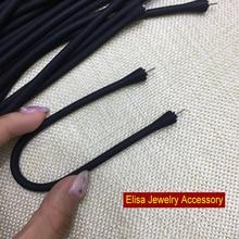 16cm 17cm 18cm 20cm Black Silicone Bracelet Accessory Silicone Material Bangle For Tahiti Pearls Women DIY Pearl Bracelet Acc
