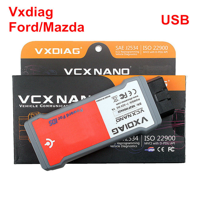 New Arrival VXDIAG VCX NANO for Ford/Mazda 2 in 1 New IDS Diagnostic Tool Support Vehicle till v98/v100