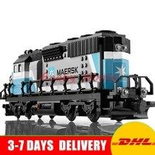 2017 DHL Lepin 21006 Nuevo 1234 Unids Genuino Technic Serie Ultimate El Maersk Tren De Juguete Bloques de Construcción de Ladrillos Educativos 10219