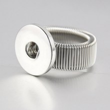 free DHL EMS 100PCS  High Quality Imitation Rhodium Plated Press Snap N0sa Spring Button Rings Fast Epacket