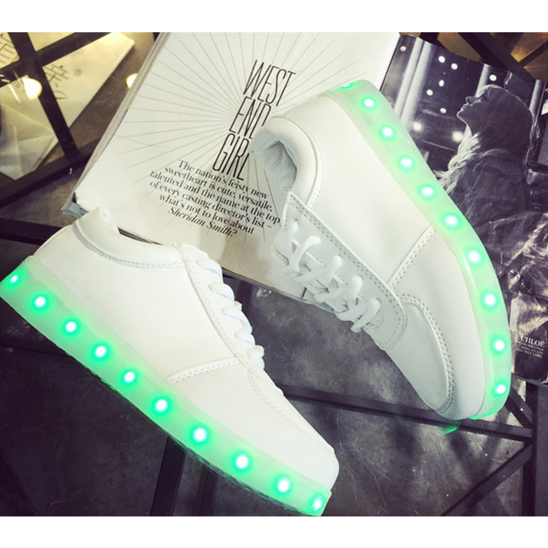 aliexpresscom buy 11 color basket led shoes 2015 led shoes for adults fashion glowing led light shoes chaussure lumineuse basket femme from reliable - Basket Femme Color