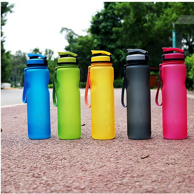 600ML 1L BPA Free Eco-Friendly portable Plastic Drinkware Water Bottles  FROSTED Space  Outdoor Sport my Water Bottle bap free
