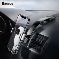 Baseus Gravity Car Phone Holder For iPhone Xs Max X Car Mount Holder For Phone in Car Metal Plate Cell Mobile Phone Holder Stand