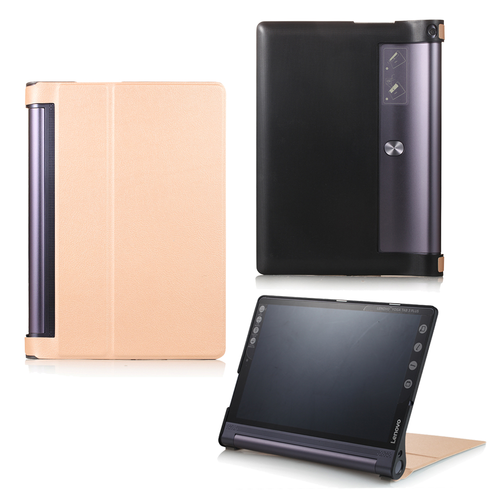 Tablet Case Cover For Lenovo Yoga Tab3 Tab 3 Plus YT-X703 / Yoga Tab3 Pro X90 10.1 inch High quality PU Leather Stand Hard ultra slim soft silicon case for 10 1 inch lenovo yoga tab 3 pro 10 x90m x90l case for lenovo yoga tab 3 plus yt x703f