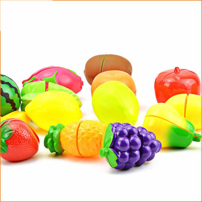 27 stilleri Mini Meyve Sebze Oyuncaklar ABS Kesme Gıda Meyve Çocuklar için Mutfak Oyuncak Çocuk Erken Eğitim Oyuncak