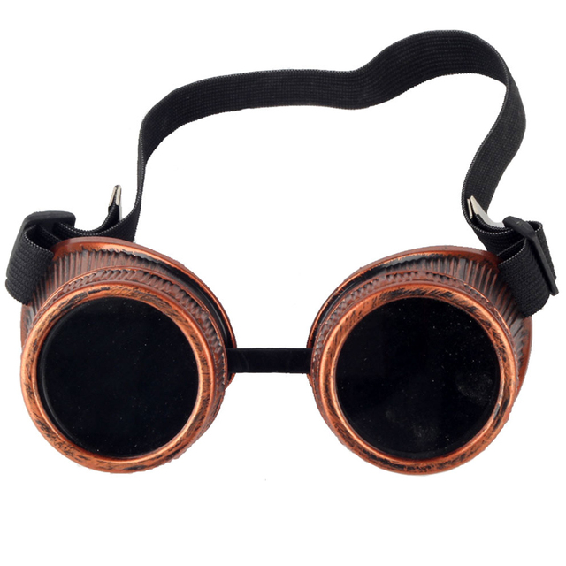 40ce1cb1f0 FLORATA New Fashion Unisex Red Frame Gothic Vintage Victorian Style  Steampunk Goggles Welding Punk Gothic Glasses