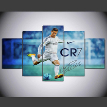 NEW 5 Panel Canvas Print Real Madrid Ronaldo Painting For Living Picture Wall Art HD  Decor Modern Artwork Football Poster