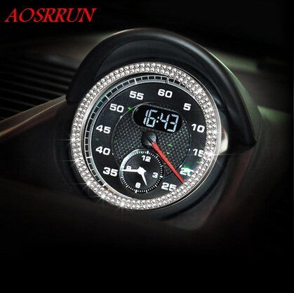 High Quality With 150 Pcs Crystal Timer Decoration covers Suitable For Porsche Cayenne Macan S turbo 911 Panamera S car-styling
