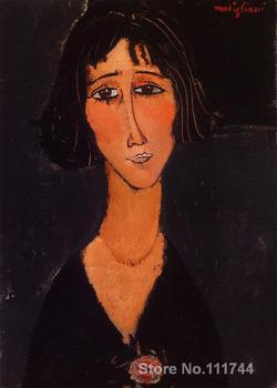 Young Girl Wearing a Rose Amedeo Modigliani painting wall art for office space Handmade High quality
