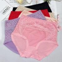 9b52fc27b 6Pcs Lot New Arrival Sexy Briefs Women Modal Breathable Lace Underwears  Plus Size 5XL Lace High