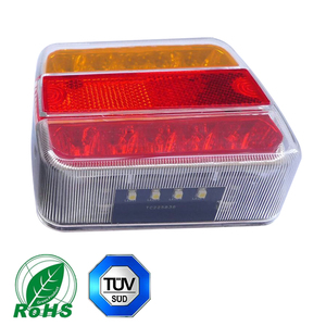 Image 3 - 1 piece Trailer Lights LED 12V Truck Rear Lamp with  Number license Plate Waterproof Car LED Indicator position stop light Lamp
