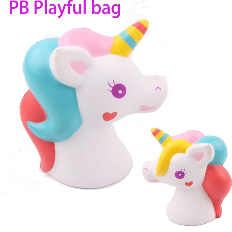 Romantic Pb Playful Bnew Animal Squishy Slow Rebound Unicorn Pony Pu Soft Decompression Toy Knead Christmas Children's Best Gift 15cm Ta4