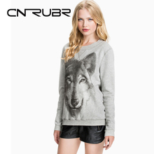 Hipster Wolf Prints Hoodies Harajuku Sweatshirt Women Hip Hop Chandal Mujer Adventure Time American <font><b>Apparel</b></font> Plus Size