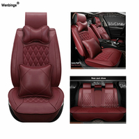 Universal PU Leather car seat covers For Fiat Uno Palio Linea Punto Bravo 500 Panda SUV car accessories auto styling 3D Leather