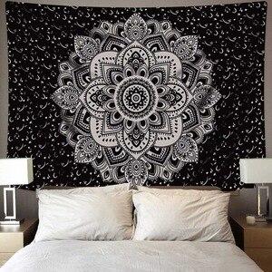 Image 4 - Tapiz de Mandala indio para colgar en la pared, alfombra de playa de arena, manta, tienda de campaña, colchón de viaje, almohadillas bohemias para dormir, tapices