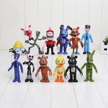 12 adet/grup Beş Nights Freddynin FNAF Bonnie Foxy Freddy Fazbear Ayı Gece At Freddy Oyuncaklar Aksiyon Figürü