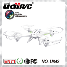 U842-1 RC Caméra Quadcopter hélicoptère 2.4 Ghz 4 Canaux 6 AXES grand UFO avec HD caméra & protection 360 Roulant d'action