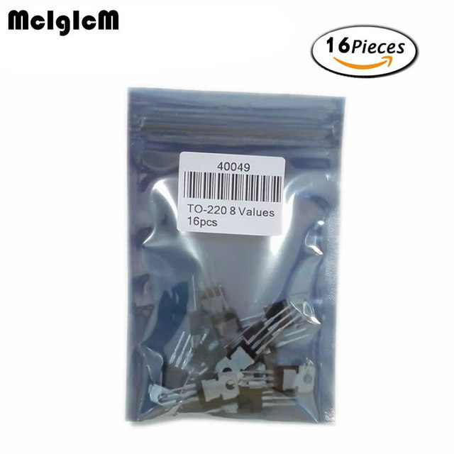 8 valor * 2 = 16 Uds 7805, 7809, 7812, 7815, 7905, 7912, 7915 LM317 220 kit de transistores surtido
