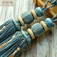 XWL 1Pair Rayon Curtain Hanging Belt Window Curtain Accessories Strap Ropes Tassel Tiebacks Buckle Lashing Bind Hanging Ropes