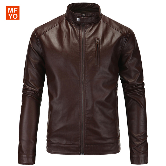 2016 New Arrivals Men Motorcycle Faux Leather Jackets Winter Autumn Men Brand PU Leather Jacket Overcoat Jaqueta