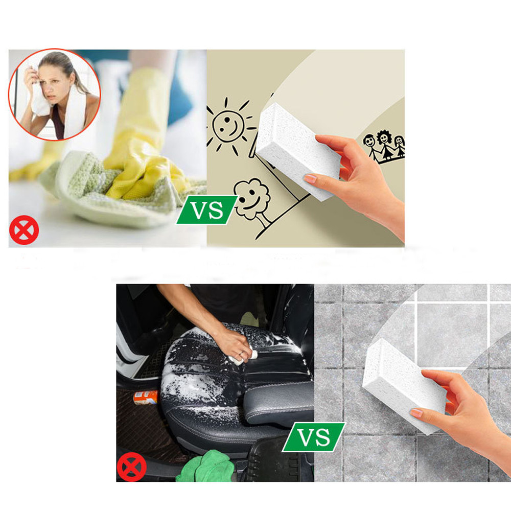 Magic-Sponge-Brush Kitchen-Cleaner-Tool Cuisine-Accessories Eponge White Silicone Pour