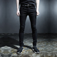 2015 New Punk Style Trousers Men S Black White Skinny Jeans Wind Harajuku Style Fashion Slim