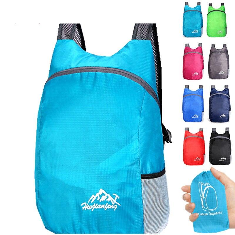 Unisex Folding Backpack Men Camping Bag Outdoor Travel Backpacks Women Ultra Lighting Waterproof Hiking Sport Foldable Backpack
