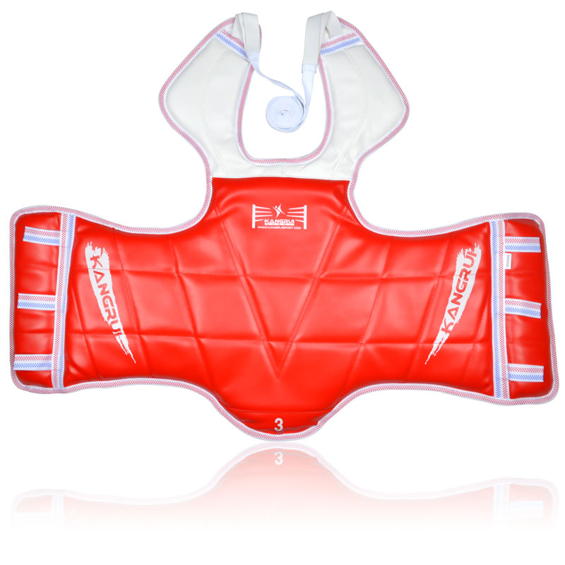 High quality PU leather WTF approved Taekwondo chest guards Child men - Sportswear and Accessories