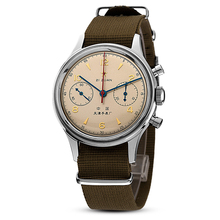 seagull watches men 1963 hand-wind Cloth Strap Waterproof Watch with Chronograph for pilot watch